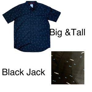 BlackJack Big and Tall Extended Shirt Printed 5x